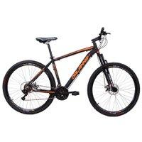 Bicicleta Aro 29 Alumínio 21V Freio a Disco Q17 Hole Preto com Laranja