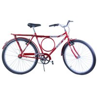 Bicicleta Aro 26 Masculina Barra Circular VB Potenza Vermelha