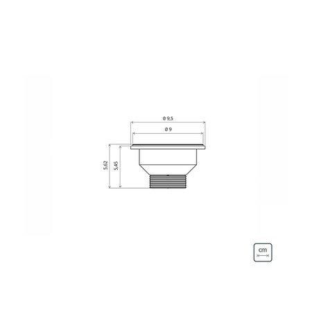 Cuba n.2 Tramontina Lavínia Perfecta em Aço Inox Polido 56 x 34 x 14 cm com Válvula 94054407