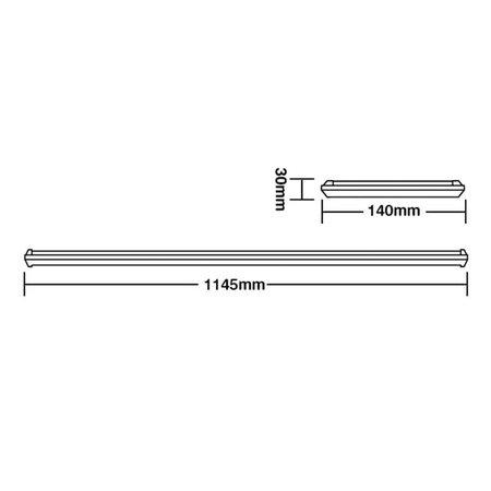Luminária Led Taschibra TL Slim 20 De Sobrepor 35W Bivolt 6500K Luz Branca