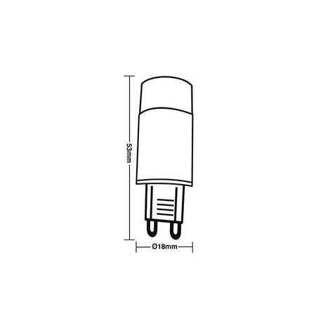 Lâmpada Led Taschibra Halopin 3W G9 2700K Luz Amarela