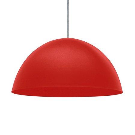 Lustre Pendente Taschibra TD 821F Vermelho Fosco E27 Bivolt