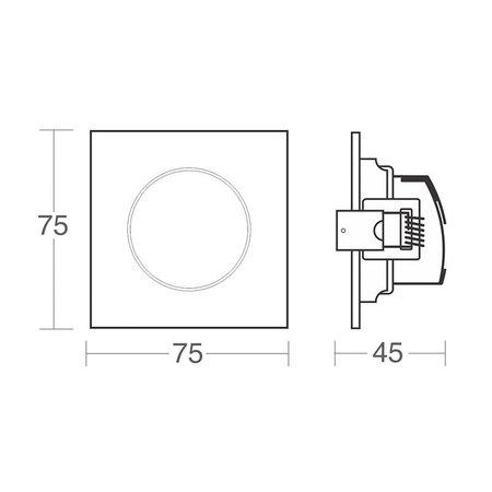 Spot de Led Taschibra Alltop MR11 Quadrado 3W Bivolt 6500K - Luz Branca