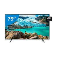 Smart TV 4K LED 75 Polegadas Samsung UN75RU7100 Wi-Fi HDR Conversor Digital 3 HDMI 2 USB