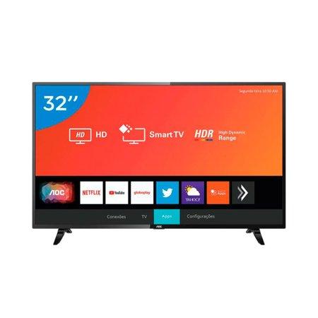 Smart TV Led AOC 32 Polegadas Wi-Fi Entrada HDMI USB 32S5295