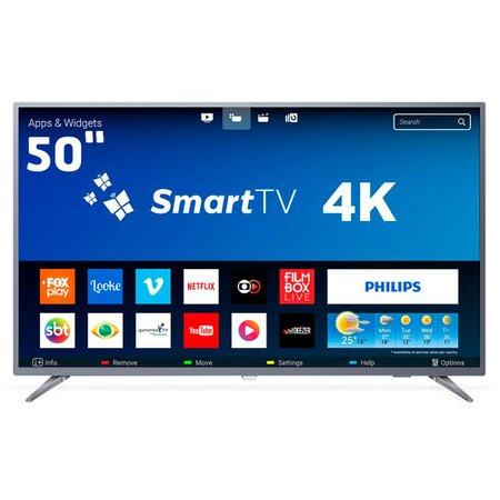Smart TV LED 50 Polegadas Philips 50PUG6513 Ultra HD 4K Wi-Fi 3 HDMI 1 USB