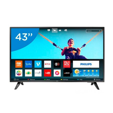 Smart TV LED 43 Polegadas Philips 43PFG5813 Full HD Netflix 2 HDMI 2 USB