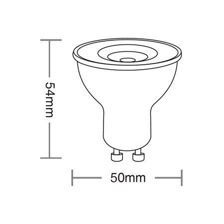 Lâmpada Led Taschibra Dicroica 4,9W Bivolt GU10 6500K - Luz Branca