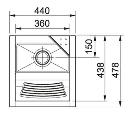 Tanque Inox TS360 S/ Espelho - 23 Litros - Franke