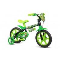 Bicicleta Infantil Aro 12 Black12 - Nathor Verde/Preta