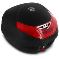 Baú Moto Bauleto 30 Litros Givi E30N Monolock Tour Bagageiro Universal Preto Vermelho