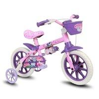 Bicicleta Infantil Aro 12 Cat - Nathor Rosa/Roxa