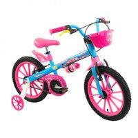 Bicicleta Infantil Aro 16 Candy - Nathor Azul/Rosa