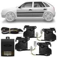 Kit Trava Elétrica Específica Gol G4 2006 a 2013 4 Portas Completa Mono Serventia Plug and Play
