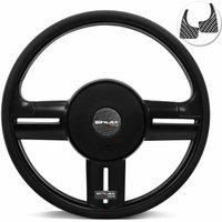 Volante Esportivo Shutt Rallye Slim Black Piano Xtreme Universal Aplique Preto e Fibra Carbono