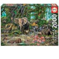 Puzzle 2000 peças Selva Africana - Educa - Importado