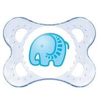 Chupeta Clear 0-6 Tam1. Azul Elefantinho - MAM