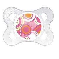 Chupeta Circles 0-6 Transparente Estampa Rosa - MAM