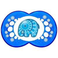 Chupeta Clear Azul 6 meses + Elephant Tam. 2 Azul - MAM