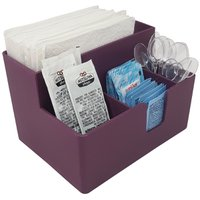 Kit 15 Portas Sachês Guardanapos Açúcar Organizador Multiuso Bancada Purple