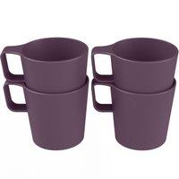 Conjunto 4 Canecas Empilháveis de 125ml Kit Xícara Café Coza Roxo Púrpura