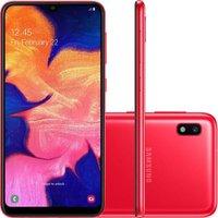 Smartphone Samsung Galaxy A10 32GB Dual Chip Android 9.0 Tela 6.2 Octa-Core 4G Câmera 13MP + 5MP - Vermelho
