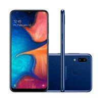 Smartphone Samsung Galaxy A20 32GB 4G 3GB RAM 6.4 Polegadas Câmera Dupla Câmera Selfie 8MP - Azul