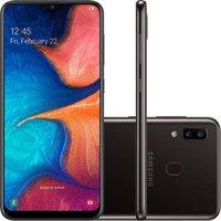 Smartphone Samsung Galaxy A20 32GB 4G 3GB RAM 6.4 Polegadas Câmera Dupla Câmera Selfie 8MP - Preto