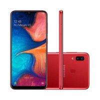 Smartphone Samsung Galaxy A20 32GB 4G 3GB RAM 6.4 Polegadas Câmera Dupla Câmera Selfie 8MP - Vermelho