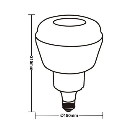 Lâmpada Led Taschibra TKL 330 61W Bivolt E27 6500K - Luz Branca
