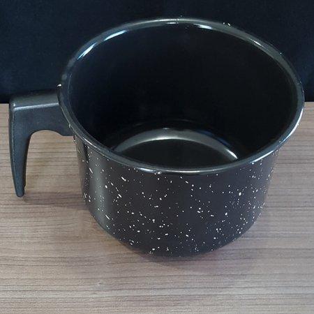 Canecão Esmaltado Fervedor Leite Carbono Cabo Baquelite 2,4 litros