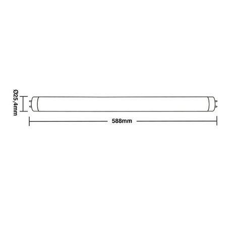 Lâmpada Led Taschibra Tubo Led 20 10W Bivolt T8 6500K - Luz Branca