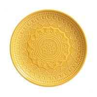Prato para Sobremesa Cerâmica Agra 6 peças Porto Brasil Mostarda