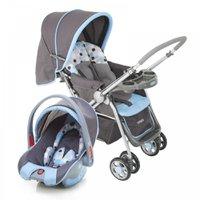 Carrinho De Passeio + Bebê Conforto C/ Redutor de Assento - Travel System Reverse - Cosco - Azul