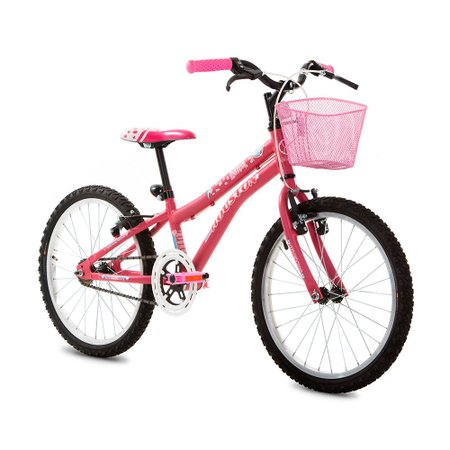 Bicicleta Houston Nina - Aro 20 Feminina com Cesta Freio V-brake