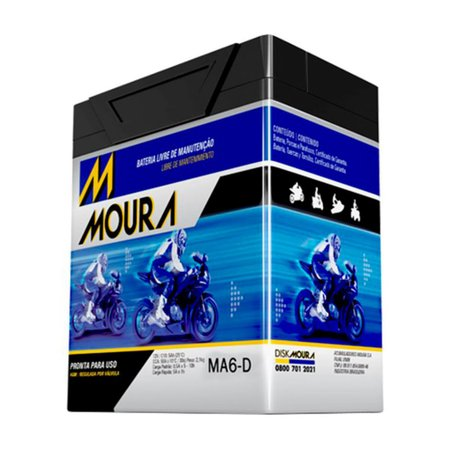 Bateria Automotiva Moura Moto MA6-D