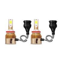 Kit Lâmpada Super Led Dual Color H11 Super Branca 6000K Amarela 4500k 8000 lumens 12V e 24V Efeito Xenon