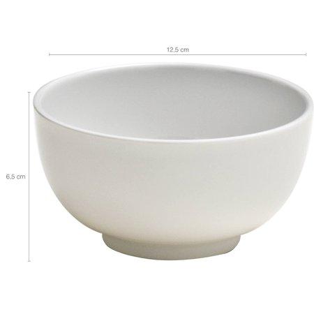 Tigela Bowl 450ml Pote Fundo Melamina Branca Haus Concept