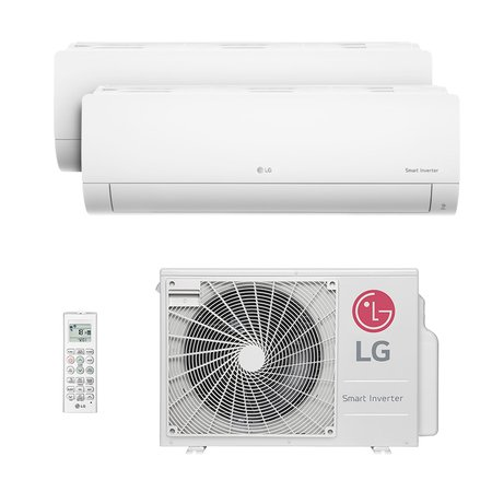 Ar-Condicionado Multi Bi Split Hw Inverter Lg 1x9000 + 1x12000 Btus Quente/Frio Monofásico