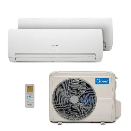 Ar-Condicionado Multi Bi Split Hw Inverter Springer Midea 1X9000+1X12000 Btus Quente/Frio 220V 1F