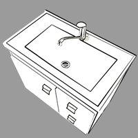 Gabinete De Banheiro 100% Mdf Hortencia 55 Cm Com Espelho Amendoa/Off White - Mgm