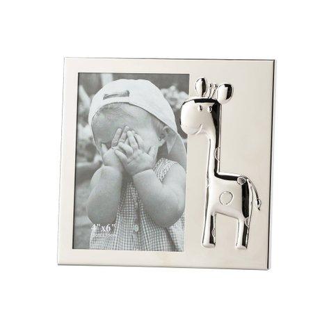 Porta Retrato Metal Baby Giraffe 10x15cm Lyor