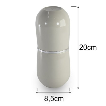 Porta Escova e Creme Dental Cromo Belly Bege