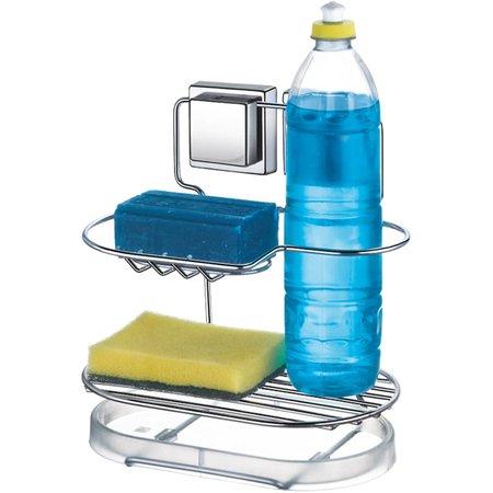 Porta Detergente com Fixação Ventosa Organizador de Pia