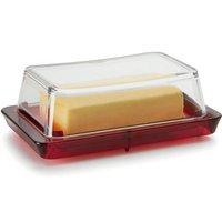 Manteigueira de Plástico Suporte para Manteiga Mesa Cozinha Vermelha