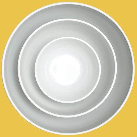 Saladeira Prato de Salada Pote Redondo Melamina Branca 2,2L
