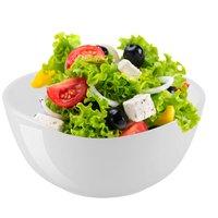 6 Saladeiras Prato de Salada Pote Redondo Melamina Branca 2,2L