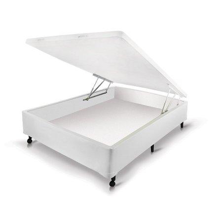 Box Castor Baú Universal Solteiro Branco New 96x203x30