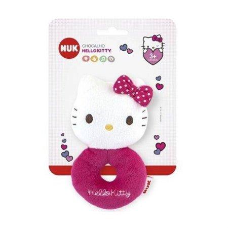 Chocalho De Pelúcia Hello Kitty Rosa - Nuk