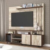 Estante Home Theater Valencia Rustico/Cafe - Permobili